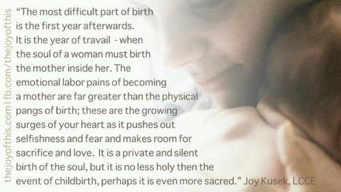 The Birth Of A Mother - Quote