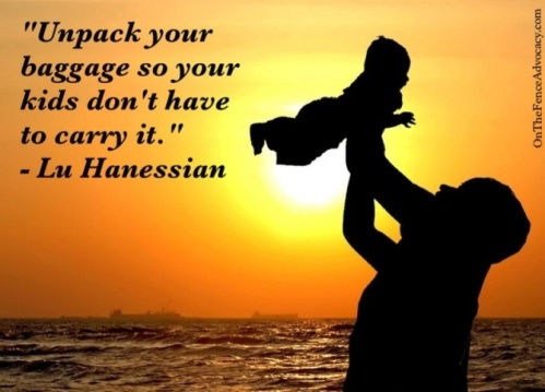 Un pack your baggage so your kids don't have to carry - Lu Hanessian #quote it